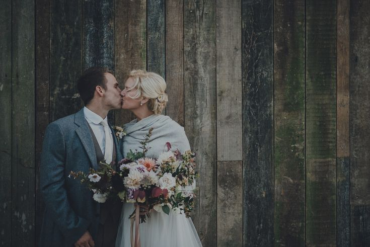 Nancarrow Farm Wedding Venue In Cornwall - Celebration Of Autumn With British Grown Flowers by The Garden Gate Flower Company | Rusty Barn At Nancarrow Farm Exclusive Hire Wedding Venue In Cornwall | Images by Ross Talling | Super 8 Wedding Film by Baxter and Ted