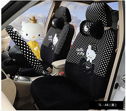 Black Cartoon Car Cushion Front Driver Back Saddle Se