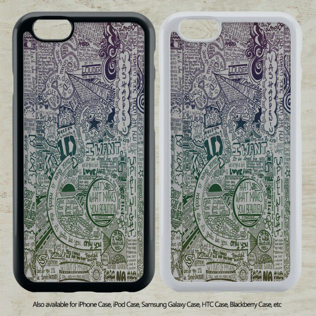 awesome One Direction Lyrics Collage for iPhone 6-6S Case iPhone 6-6S Plus iPhone 5 5S SE 4-4S HTC Case Samsung Galaxy S5 S6 S7 and Samsung Galaxy Other-PC20160000030