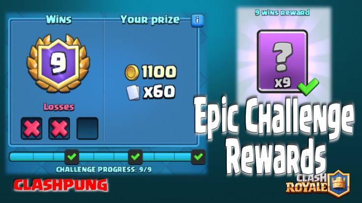 Epic Challenge 9 Wins - Elite Barbarians & Giant Deck - Clash Royale