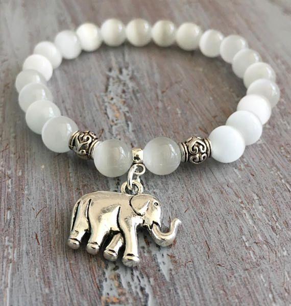 Elefante pulsera joyería de elefante Boho elefante encanto