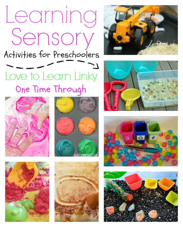 Learning Sensory Activities for Preschoolers: Love to Learn Linky