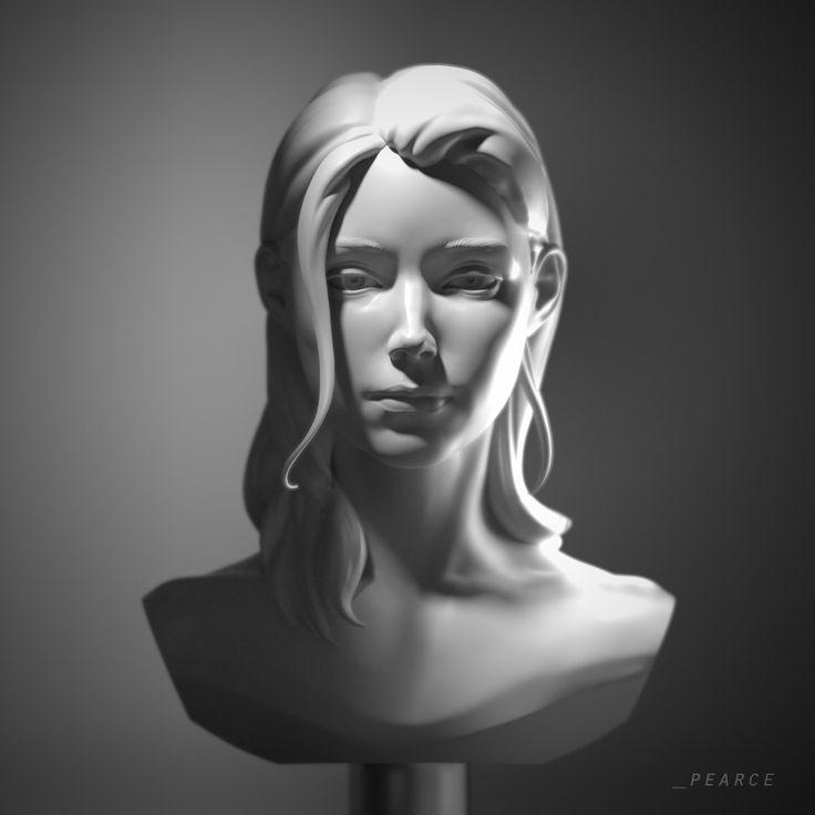 Soft Form Portrait, Dominic Pearce on ArtStation at https://www.artstation.com/artwork/lrGyO