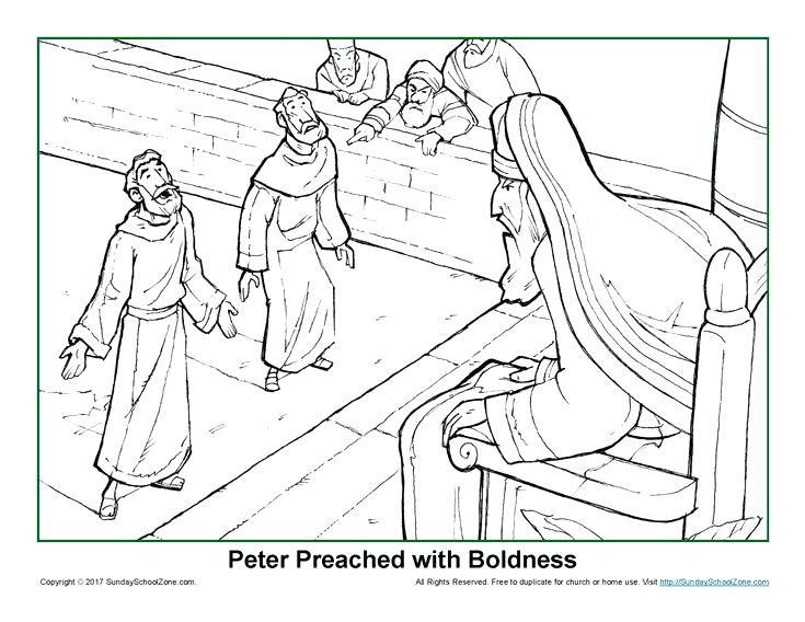 Peter And Cornelius Coloring Page This Peter Preached With