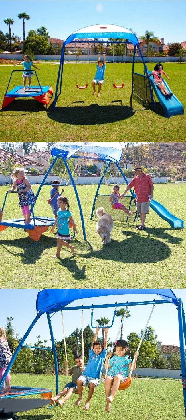 Swings Slides And Gyms 16515 Backyard Swing Set Playground Outdoor