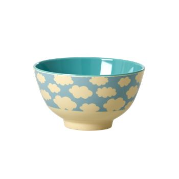 Small Cloud Melamine Bowl by Rice DK, Offerd by Modern Rascals. Fun, Durable Kids Cups and Dishes.