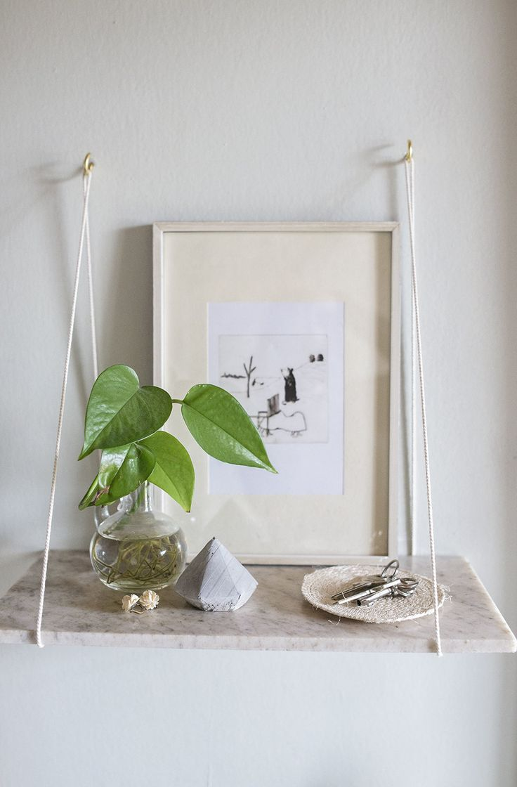 DIY MARBLE SHELVES