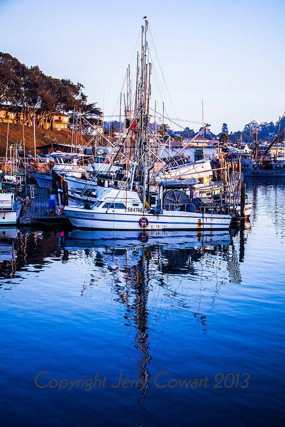 Boat Marina Mast Reflection in Blue Ocean by PhotosbyJerryCowart, $40.00