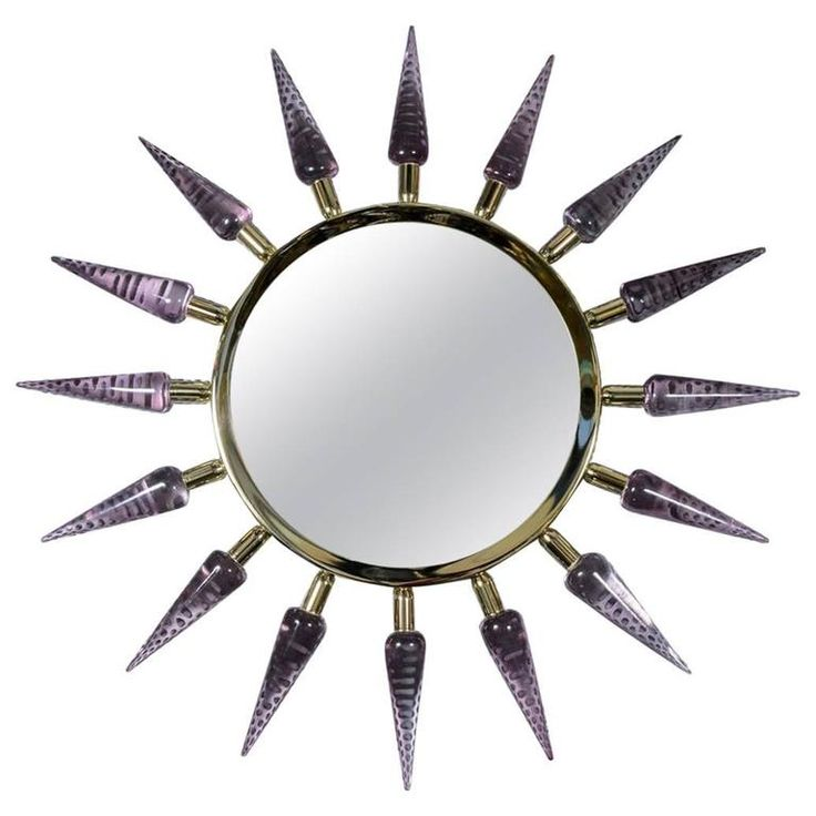 Sunburst Murano Glass Mirror by Régis Royant   From a unique collection of antique and modern wall mirrors at https://www.1stdibs.com/furniture/mirrors/wall-mirrors/