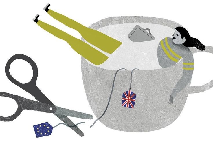 Una ilustración sobre el Brexit o la salida de Gran Bretaña de la UE. Para @0034codigoexpat #brexit #expats #tea #illustration by cinta_arribas