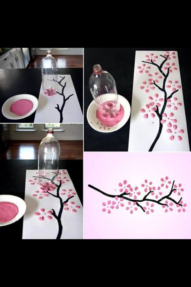 Artwork done with a 2 liter plastic bottle