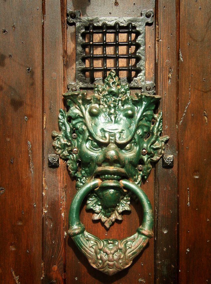 Ornate Door Knocker Of Needful Things, An Antique Shop In St Jamesu0027s  Street, Kemp Town, Brighton, East Sussex.