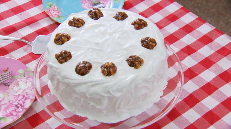 This frosted walnut layer cake by Mary Berry is the technical challenge recipe in the Cake episode of Season 3 of The Great British Baking Show on PBS Food.