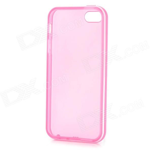 Brand: N/A; Quantity: 1 Piece; Color: Deep pink + white; Material: TPU; Compatible Models: Iphone 5; Other Features: Protects your device from scratches dust and shock; Packing List: 1 x Protective case; http://j.mp/1lksa6Y