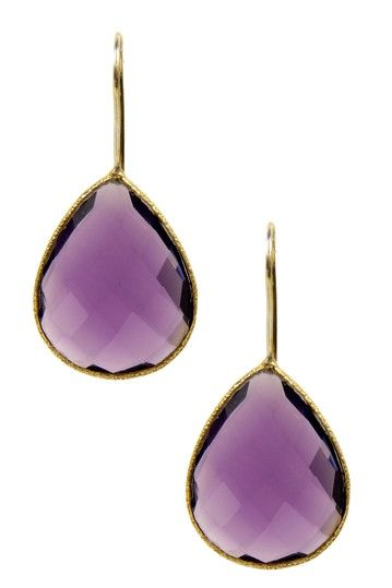 gold amethyst earrings I have an amethyst ring that would go beautifully with those