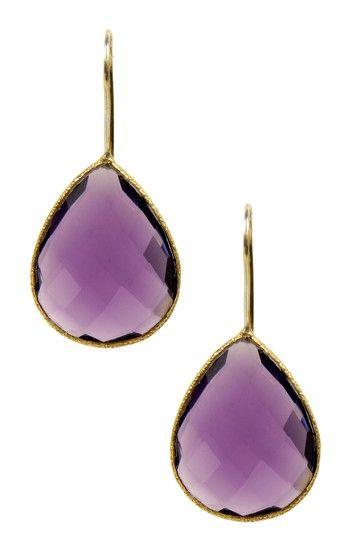 gold amethyst earrings - my birthstone!