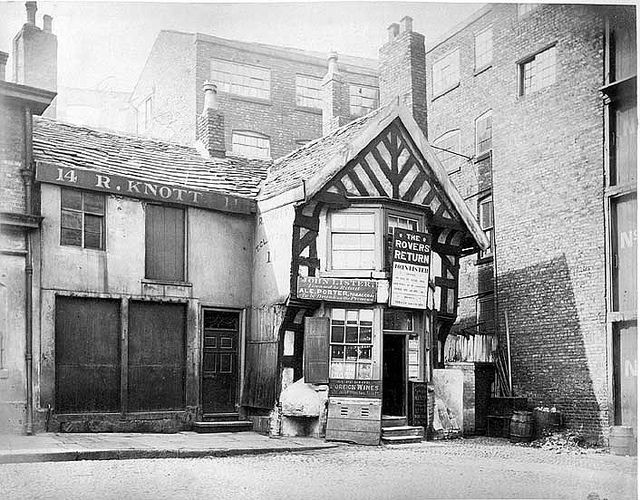The Rovers Return, Shudehill, Manchester, 1877 (The oldest beerhouse in England at the time)