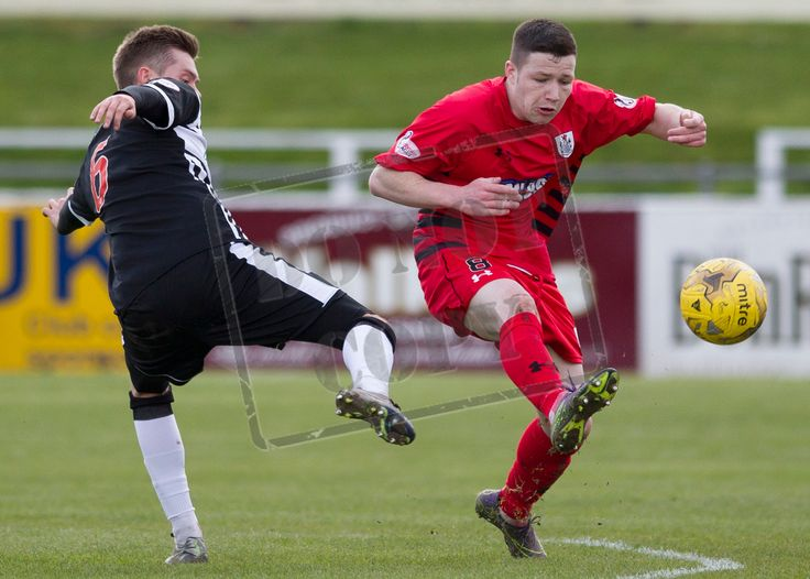 Queen's Park's Conor McVey cuts out the ball during the SPFL League Two game between Elgin City and Queen's Park.