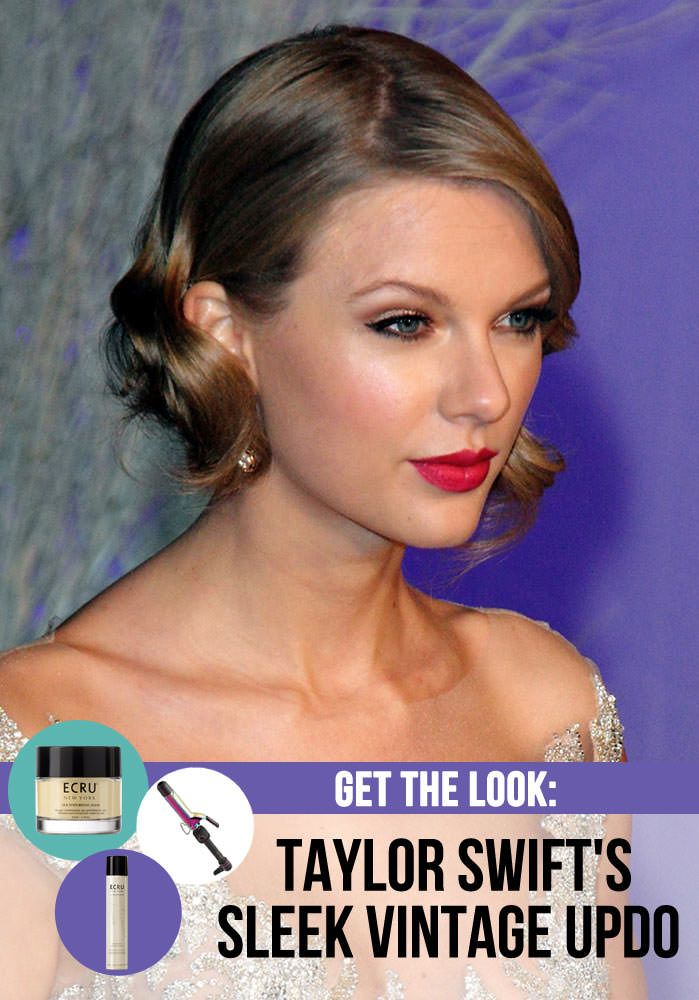 A Taylor Swift-Inspired Vintage Updo You Cannot Miss - http://www.dailywomanmag.com/hairstyle/a-taylor-swift-inspired-vintage-updo-you-cannot-miss.html