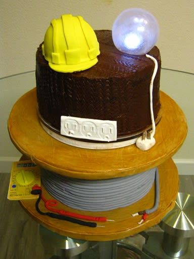 Electrician Cake by Cakeicer (Shirley)