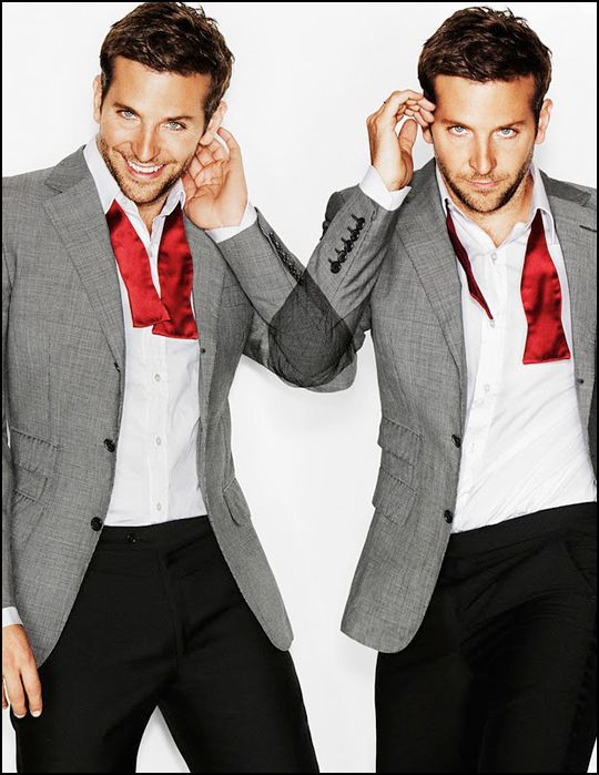 Bradley Cooper... my sexy french speaker.. My fantasy would be to travel to France with him and visit Paris, eat crepes and drink champagne next to La Tour Eiffel while he sweet french talks me :P lol dont judge a girl can dream.