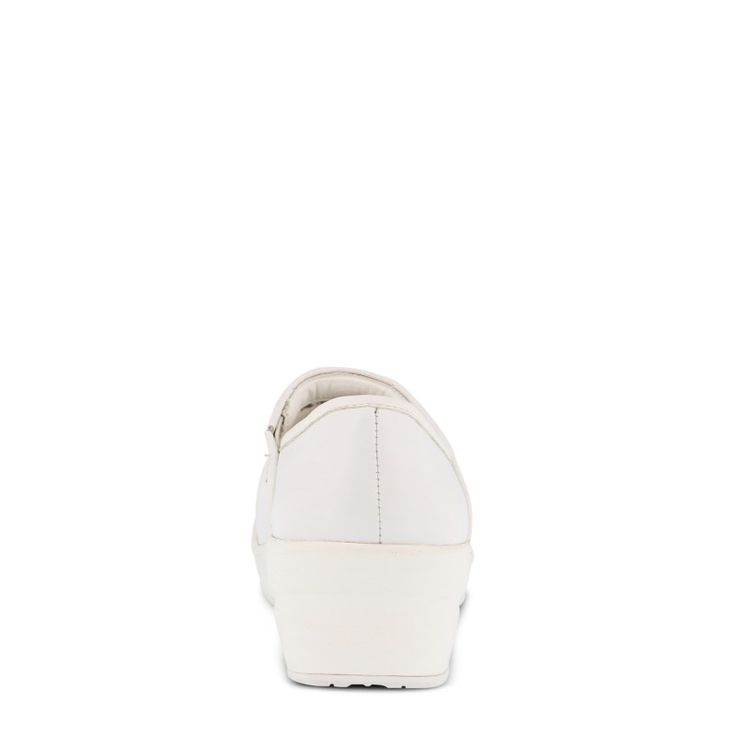 Spring Step Women's Selle Slip Resistant Clog Shoes (White Leather) - 10.0 M