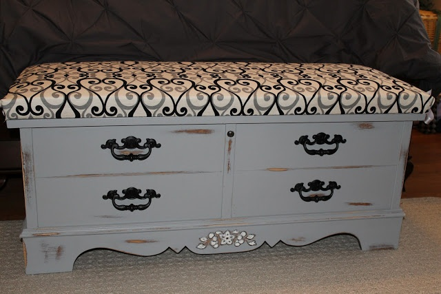 Clement: Cedar Chest Redo- how I would want my chest to look if I choose white.
