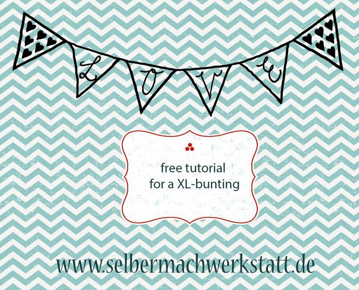 Anleitung zum Nähen einer XL-Wimpelkette (z.B. für den Garten) tutorial for sewing a XL-bunting (e.g. for the garden) [caption id=