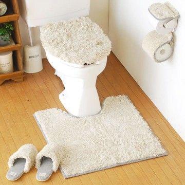 トイレマットセットでおしゃれトイレを作ろう。北欧~ディズニーまで ... フタカバーとマット!