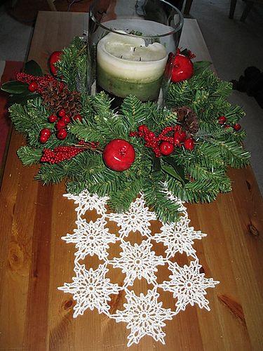 Free Crochet Pattern For Snowflake Table Runner : 25+ best ideas about Crochet Table Runner on Pinterest ...