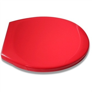 Red toilet seat to go with retro wall paper. £19.99 from http://www.splashdirect.com