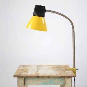 #bureaulamp #lamp #geel #vintage #industrieel #