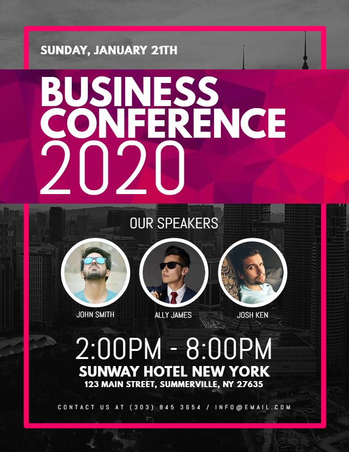 Business conference corporate poster flyer design template Event