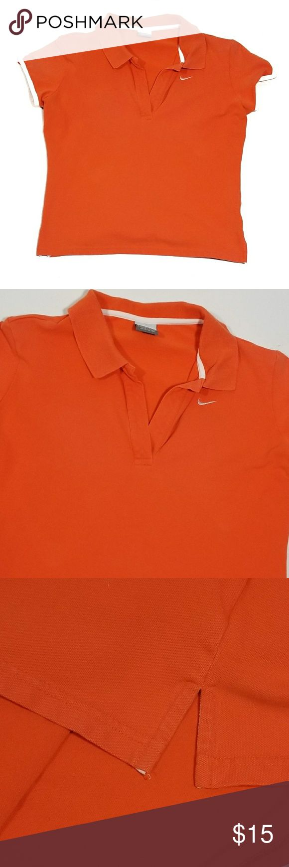 Nike Orange Short Sleeve Polo - Size Large Nike short sleeve polo. Orange color, size large.  Does not have buttons on the collar. Nike Tops