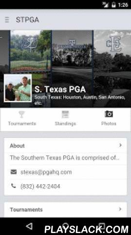 Southern Texas PGA  Android App - playslack.com , The Southern Texas PGA app for Android. Key Features:• View Southern Texas PGA tournament info and leaderboards.• Find courses and course info - across the U.S. and Canada.• Read the latest Southern Texas PGA news.• Season standings and stats.