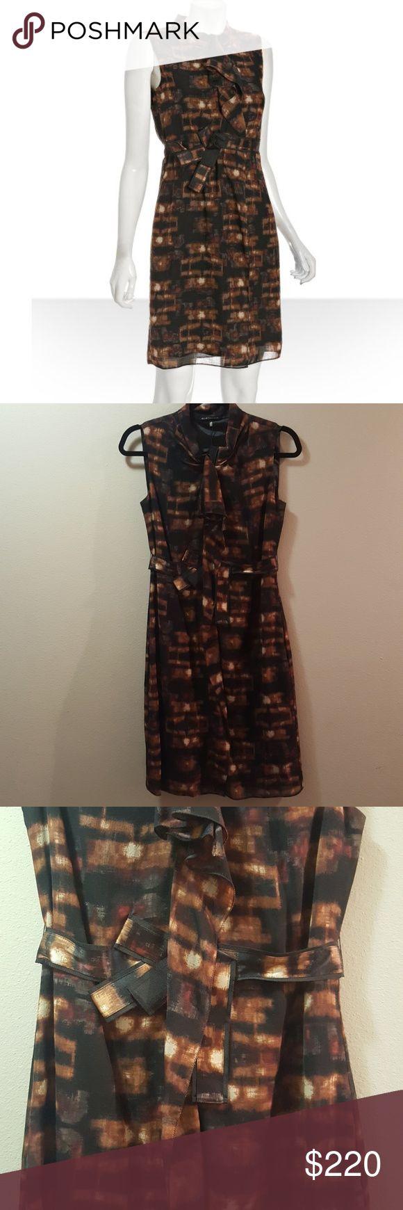 Elie Tahari Dress New Elie Tahari Mika dress. Black/copper color. zipper in front of dress Elie Tahari Dresses