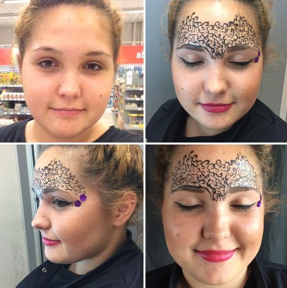 Fantasy makeup.