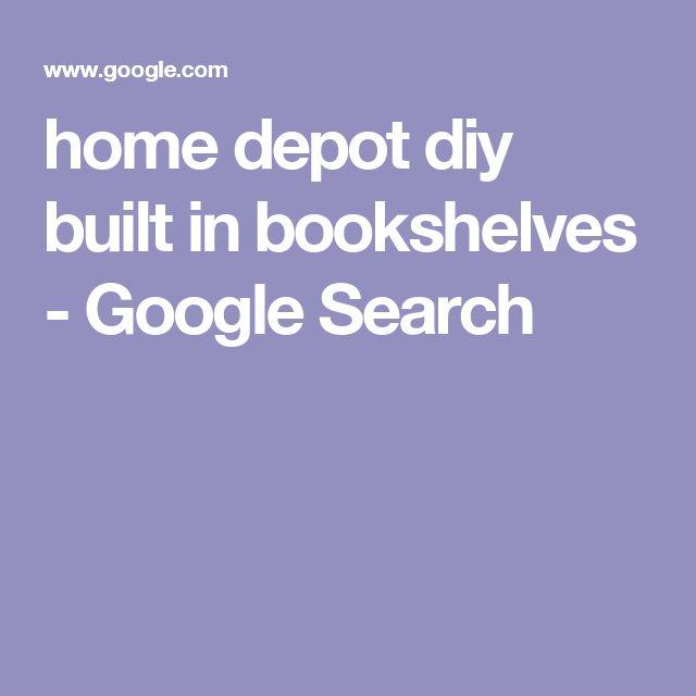 home depot diy built in bookshelves - Google Search