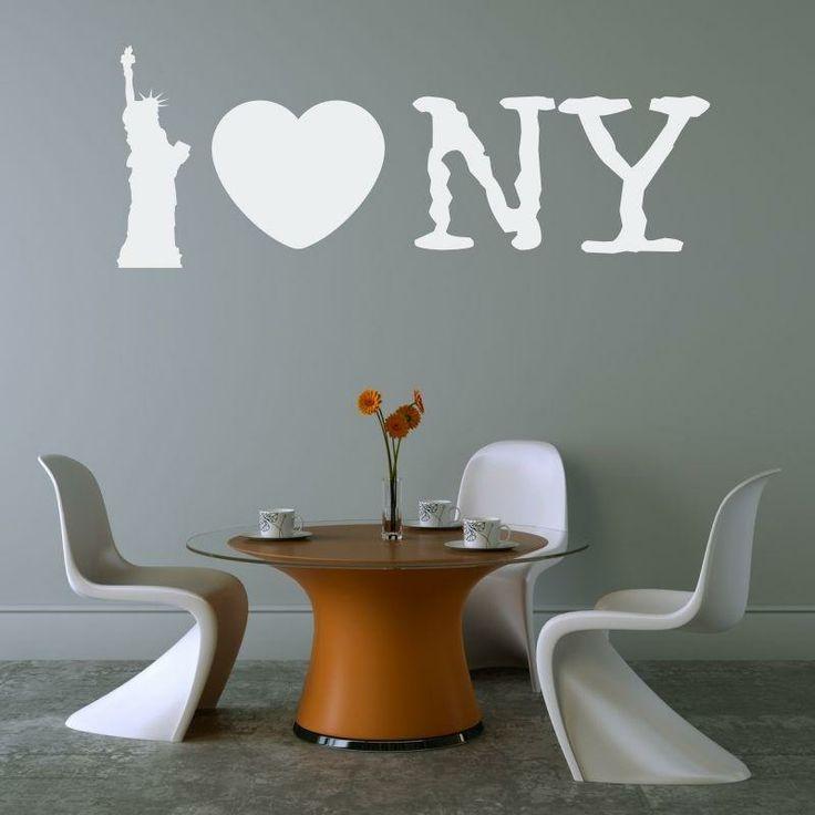 Naklejka -  I love NY   Decorative sticker - I love NY   21,49 PLN #wall_decal #sticker #NY #pattern #home_decor #interior_decor #iloveny