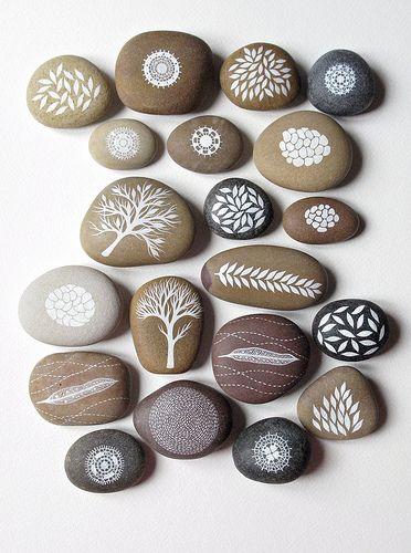 painted beach rocks by natasha newton