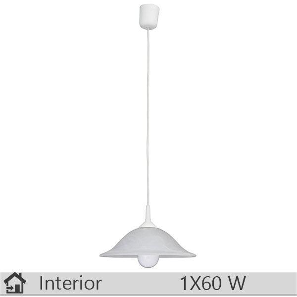 Pendul iluminat decorativ interior Rabalux, gama Alabastro, model 3905