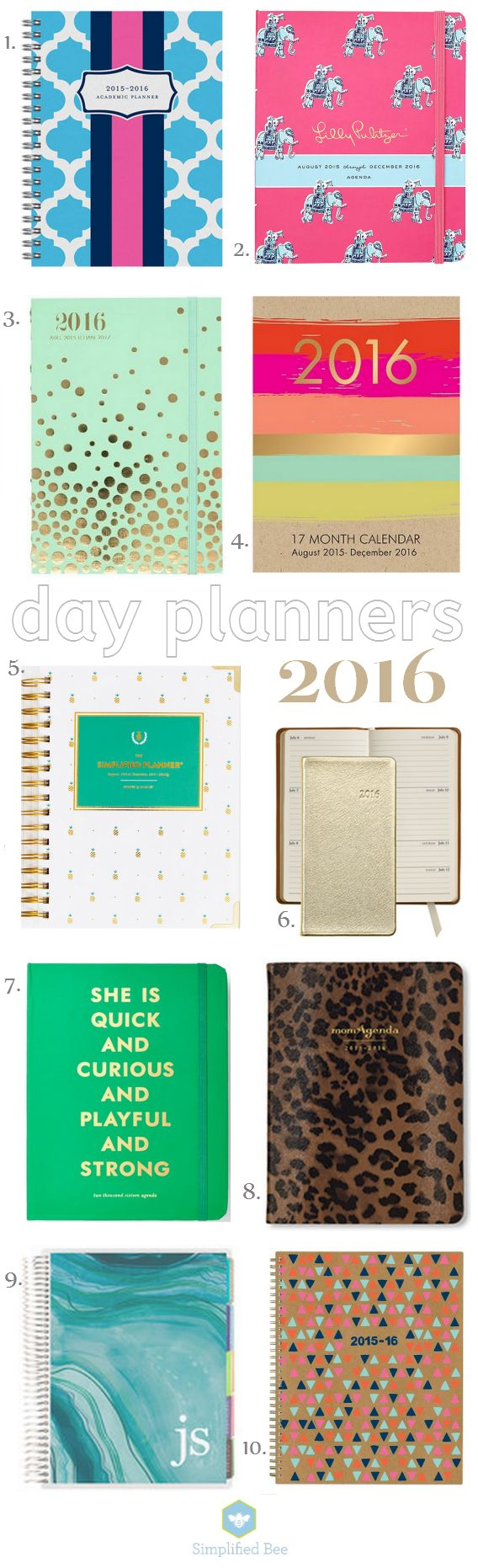 Top 10 :: Stylish Daily Planners 2016 | Simplified Bee | Bloglovin'