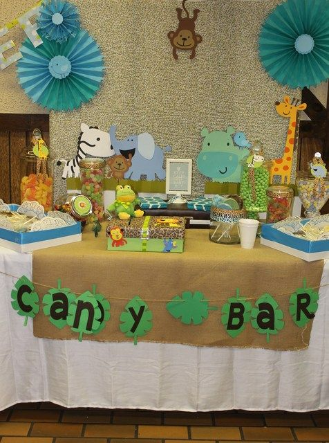 25 best ideas about safari candy table on pinterest for Baby shower safari decoration