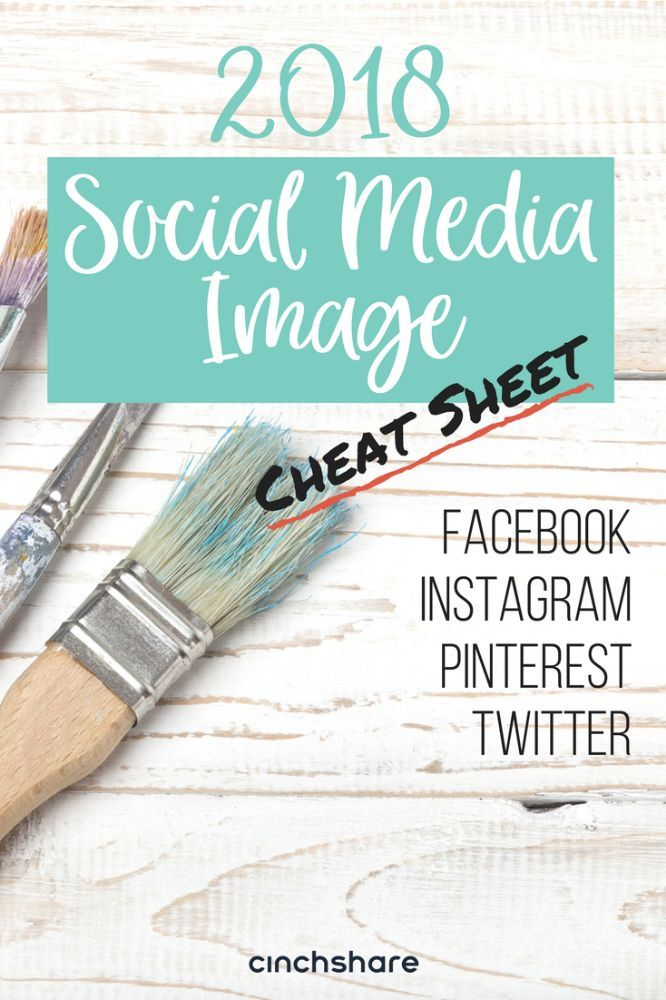 Download your copy of CinchShare's 2018 Social Media Image Cheat Sheet today for all your content creation needs!