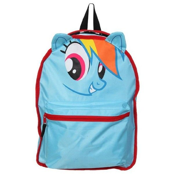 Official My Little Pony Derpy Hooves/ Rainbow Dash Reversiby Backpack ($40) ❤ liked on Polyvore featuring bags, backpacks, backpack, daypack bag, my little pony, my little pony bag, blue backpack and knapsack bag