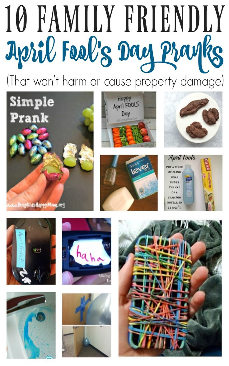 Fun pranks to pull on teens/kids - 10 Family Friendly April Fool's Day Pranks