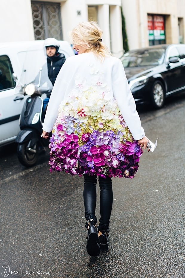 The coat of flowers: in Paris