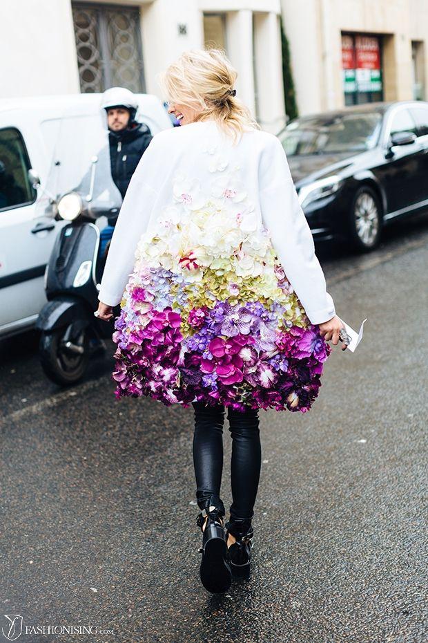 Coat of flowers