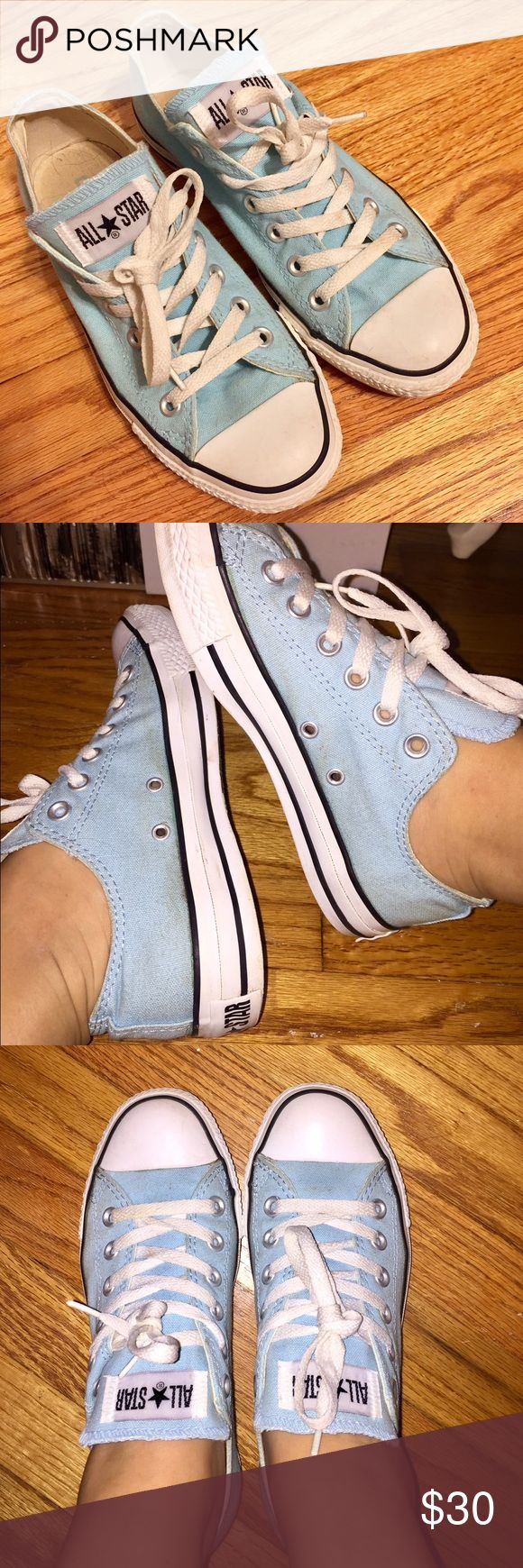 Converse Cute baby blue converse! Great condition -- give your best offer! (: Converse Shoes Sneakers