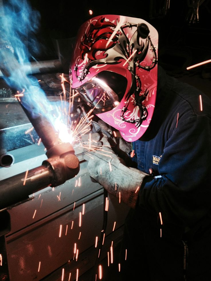 Woman Welder Myself Pink Speedglas Welding Hood